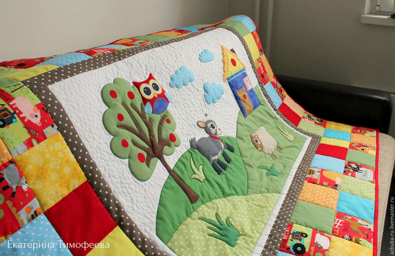 Одеяло ручной работы пэчворк