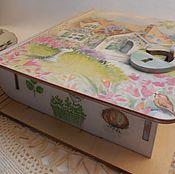 """Для дома и интерьера ручной работы. Ярмарка Мастеров - ручная работа шкатулка """"Воскресный чай"""". Handmade."""