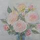 """Картины цветов ручной работы. Ярмарка Мастеров - ручная работа. Купить Картина акварель """"Чайная роза"""". Handmade. Розовый, букет"""