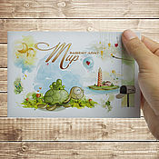 Дизайн и реклама handmade. Livemaster - original item Cards on order. Handmade.