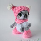 Куклы и игрушки handmade. Livemaster - original item Toy owl knitted white gift for children, bird crocheted, handmade toy. Handmade.