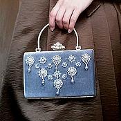 Сумки и аксессуары handmade. Livemaster - original item Velvet clutch with pearls. Handmade.