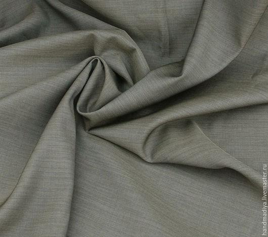 Шитье ручной работы. Ярмарка Мастеров - ручная работа. Купить Костюмно-плательная ткань оливковый цвет, габардин. Handmade. Хаки