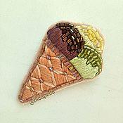 """Украшения ручной работы. Ярмарка Мастеров - ручная работа Брошь """"Шарики мороженого"""". Handmade."""
