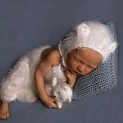 Аксессуары для фотосессии ручной работы. Ярмарка Мастеров - ручная работа Комплект для фотосессии новорожденного Мишка Newbornprops. Handmade.