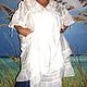 Платья ручной работы. Белое платье-туника с кружевом ЛИЛИЯ. Татьяна. Ярмарка Мастеров. Платье с кружевом, кантри стиль