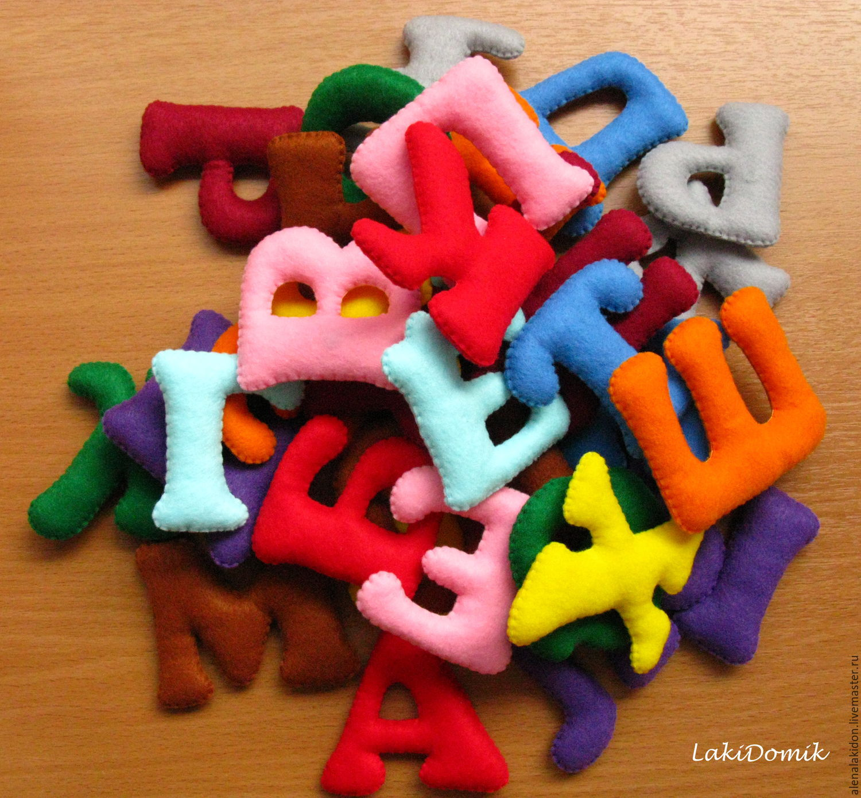 Alphabet Educational Toys : Alphabet felt shop online on livemaster with shipping
