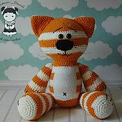 Материалы для творчества handmade. Livemaster - original item Master class on crochet cat Kozuka. Handmade.