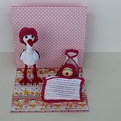 Куклы и игрушки ручной работы. Ярмарка Мастеров - ручная работа Аист с малышкой. Handmade.