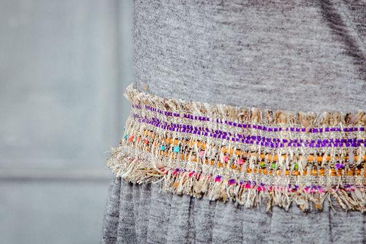 Платья ручной работы. Ярмарка Мастеров - ручная работа. Купить Платье с поясом букле Chanel и кармашком. Handmade. Платье