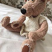 Куклы и игрушки ручной работы. Ярмарка Мастеров - ручная работа Мишка Тедди ДЕВОЧКА в платьице. Handmade.