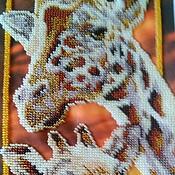 """Картины и панно ручной работы. Ярмарка Мастеров - ручная работа Картина """"Жирафы. Handmade."""
