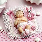 Куклы и игрушки ручной работы. Ярмарка Мастеров - ручная работа Малышка Зефиринка (4,2см). Handmade.