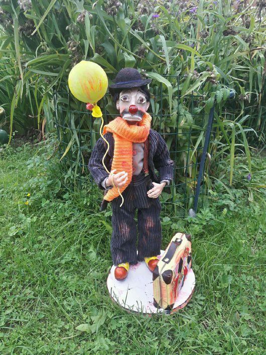 Коллекционные куклы ручной работы. Ярмарка Мастеров - ручная работа. Купить Грустный клоун. Handmade. Грусть, шляпа с полями