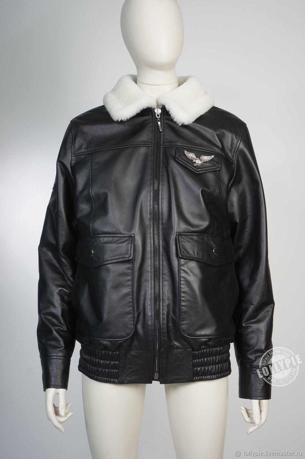 Pilot leather jacket, Outerwear Jackets, Moscow,  Фото №1