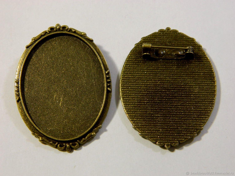 Brooch connector, bronze color. for PCs, Connectors, Saratov,  Фото №1