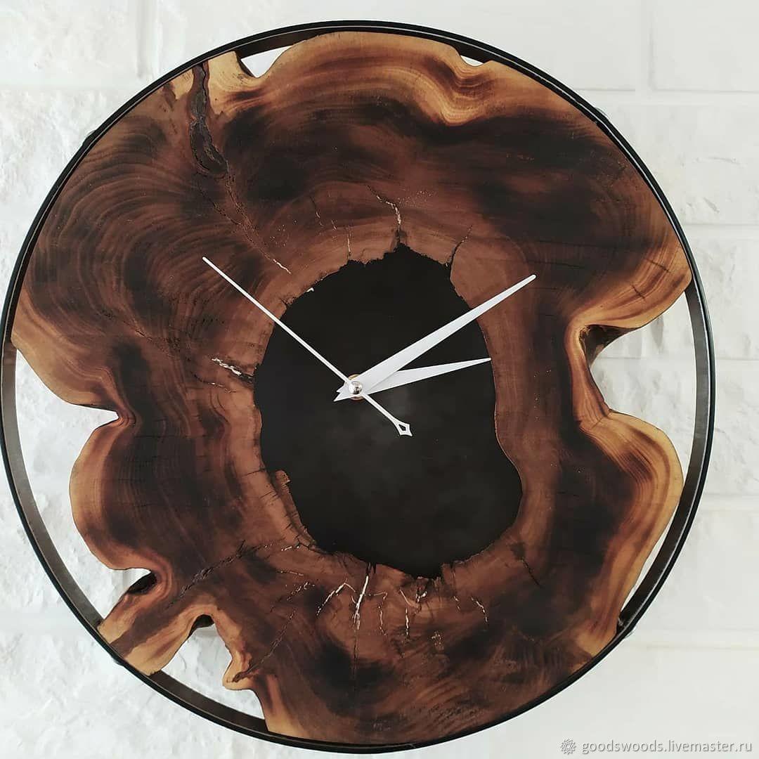 Часы настенные в стиле лофт из дерева, Часы классические, Нижний Новгород,  Фото №1