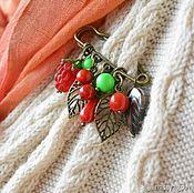 Украшения handmade. Livemaster - original item Brooch pin RASPBERRY. Handmade.