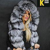Одежда ручной работы. Ярмарка Мастеров - ручная работа Пальто из финской чернобурой лисы. Handmade.