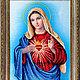 Вышивка ручной работы. Набор для вышивки бисером.Пресвятая Дева Мария.. Вышивка бисером. (zolotayakorona). Интернет-магазин Ярмарка Мастеров.