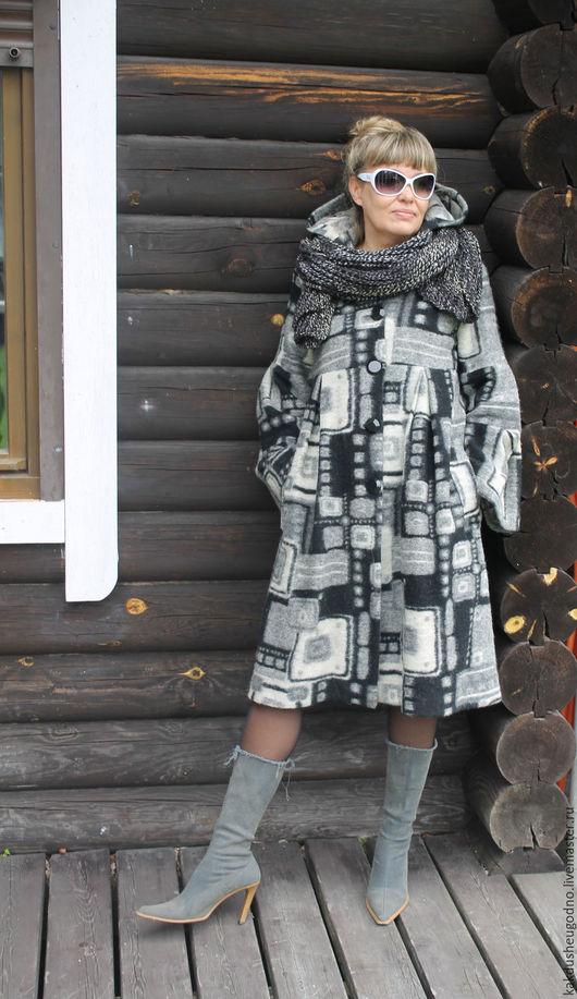 Верхняя одежда ручной работы. Ярмарка Мастеров - ручная работа. Купить Пальто демисезонное. Handmade. Серый, пальто, пальто из шерсти