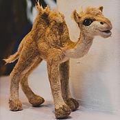handmade. Livemaster - original item Toy felted Camel. Handmade.