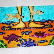 Для дома и интерьера handmade. Livemaster - original item The picture on the glass of the sea 2. Handmade.