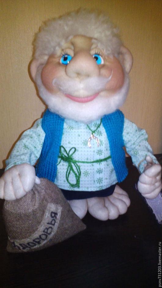 Коллекционные куклы ручной работы. Ярмарка Мастеров - ручная работа. Купить Домовеночек. Handmade. Комбинированный, коллекционная кукла, текстиль