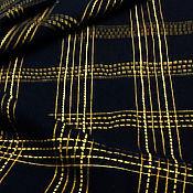 Материалы для творчества ручной работы. Ярмарка Мастеров - ручная работа Потрясающе красивая вышитая на заказ в клетку пальтовая шерсть в любом. Handmade.