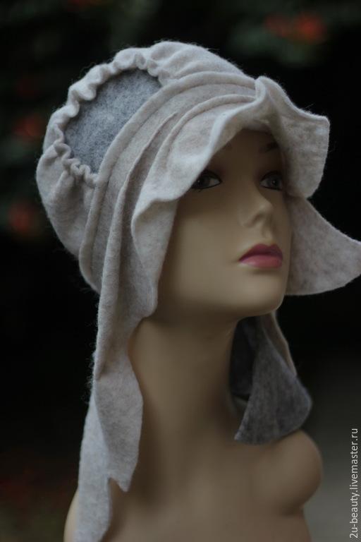 Шапки ручной работы. Ярмарка Мастеров - ручная работа. Купить Шапочка из войлока. Эксклюзивная шапка . Дизайнерская шапка.Стиль бохо. Handmade.