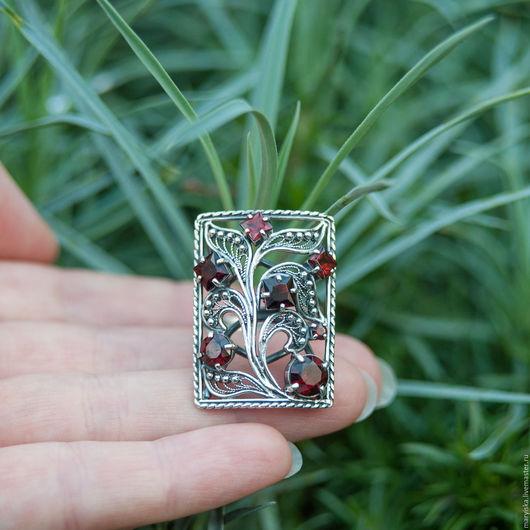 Кольца ручной работы. Ярмарка Мастеров - ручная работа. Купить Гранат (кольцо) (250). Handmade. Разноцветный, красивое украшение