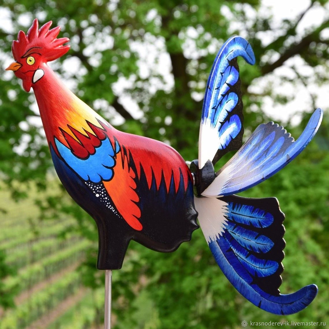 Флюгер Вертушка  забавная птица красивый  Петух, Флюгер, Санкт-Петербург,  Фото №1