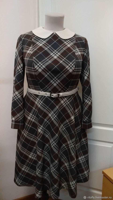 c2ec5ded24c 038  повседневное платье в клетку из шерсти – купить в интернет ...