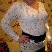 Одежда ручной работы. Ярмарка Мастеров - ручная работа Кофта женская ажурная. Handmade.