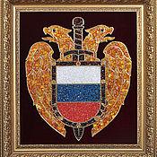 Подарки к праздникам handmade. Livemaster - original item The emblem of the SSF Russia made of amber. Handmade.