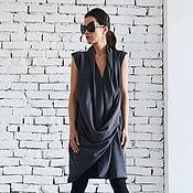 Одежда ручной работы. Ярмарка Мастеров - ручная работа Короткое платье, серое платье. Handmade.
