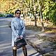 Верхняя одежда ручной работы. Пальто серый мрамор для примера , изготовление на заказ. Ольга Никишова. Интернет-магазин Ярмарка Мастеров.