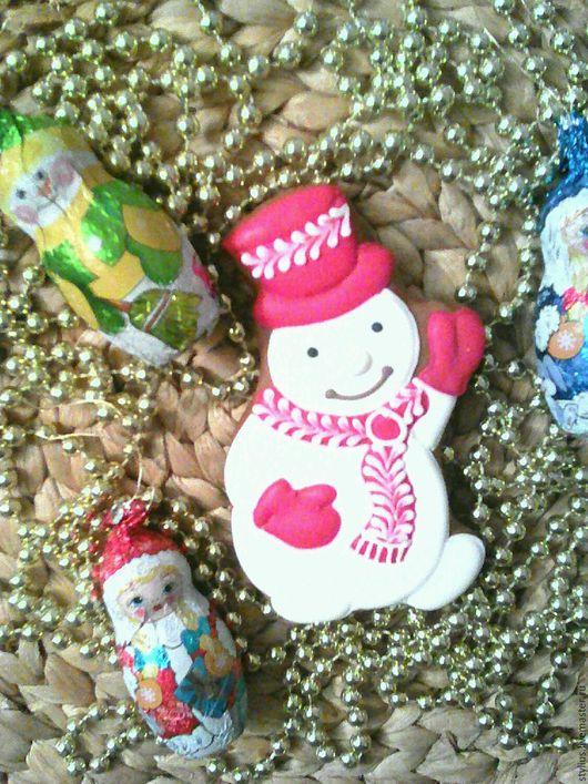 Персональные подарки ручной работы. Ярмарка Мастеров - ручная работа. Купить Зимний снеговик. Handmade. Комбинированный, новогодний подарок, подарок