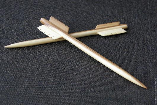 """Заколки ручной работы. Ярмарка Мастеров - ручная работа. Купить Шпильки для волос из дерева """"Стрелы Амура"""". Handmade. Заколка для волос"""