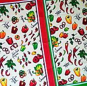 """""""Паприка"""" набор кухонных полотенец для кухни, дачи или подарка."""