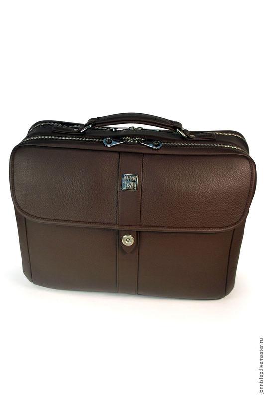 """Мужские сумки ручной работы. Ярмарка Мастеров - ручная работа. Купить Мужская деловая сумка """"Pascal-B brown"""". Handmade."""