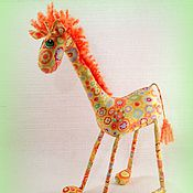 Куклы и игрушки ручной работы. Ярмарка Мастеров - ручная работа Рыжик жираф   )). Handmade.