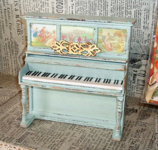 Миниатюра ручной работы. Ярмарка Мастеров - ручная работа. Купить Пианино. Handmade. Кукольная миниатюра, fimo