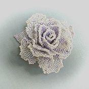 Украшения handmade. Livemaster - original item ST. PETERSBURG WINTER. Brooch-rose bead. Handmade.