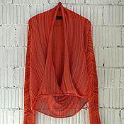 Одежда ручной работы. Ярмарка Мастеров - ручная работа КН_008л Кардиган-трансформер  «Закатный каньон». Handmade.