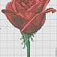 """Вышивка ручной работы. Дизайн машинной вышивки """"Красная роза"""", формат EXP,ART. Кузница счастья. Интернет-магазин Ярмарка Мастеров."""