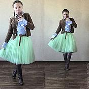 """Одежда ручной работы. Ярмарка Мастеров - ручная работа юбка - пачка цвета """"стебелёк  подснежника"""". Handmade."""