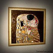 """Для дома и интерьера ручной работы. Ярмарка Мастеров - ручная работа Часы по мотивам Г.Климта """"Поцелуй"""". Handmade."""