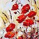"""Картины цветов ручной работы. Ярмарка Мастеров - ручная работа. Купить """"Маки и ромашки""""-интерьерная картина маслом. Handmade."""