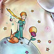 "Аксессуары handmade. Livemaster - original item Copy of batik scarf ""the Little Prince"" silk satin 54Х54 cm. Handmade."